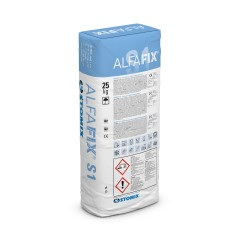 ALFAFIX S1 cementitious levelling substance compound for insulation