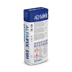 ALFAFIX S101 cementitious levelling substance compound for insulation