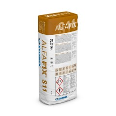ALFAFIX S11 cementitious levelling substance compound for insulation